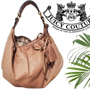 Juicy couture camel key stud lg slouch hobo bag